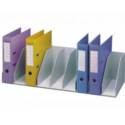 Organizadores cinza para 9 pastas de arquivo