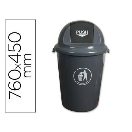 Baldes de lixo em plástico com tampa redonda
