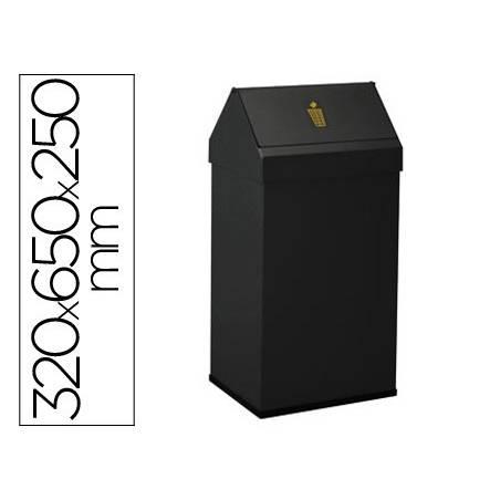 Baldes de lixo metálicos com tampa giratória 52L