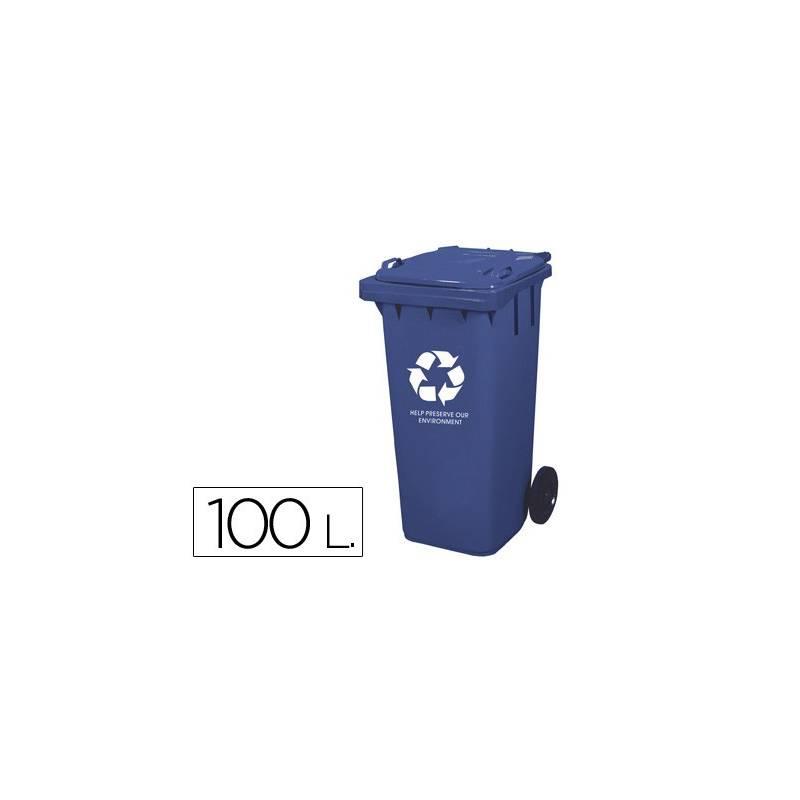 Contentores de lixo em plástico 100L.