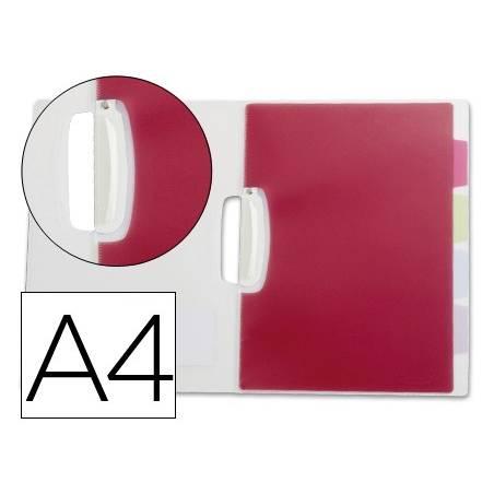 Capas dossier com clip lateral e 5 separadores