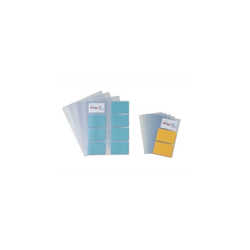 Recargas para porta cartões de visita A4 Pardo