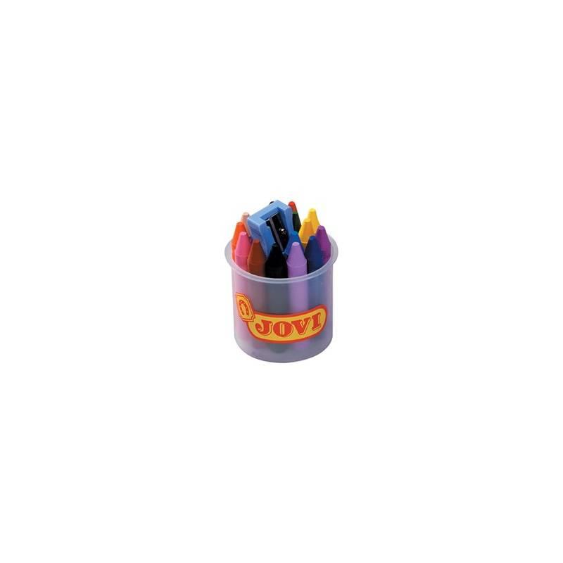 Lápis de cera Jovi - potes com 16 cores
