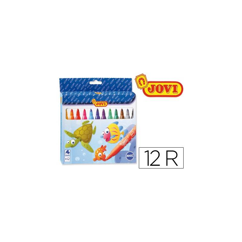 Marcadores de feltro Jovi Maxi com 12 cores