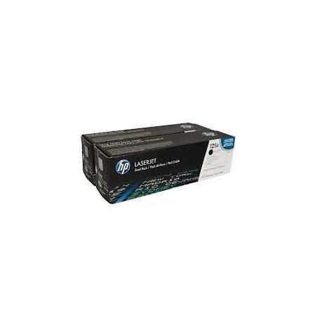 Toner HP 125A Preto - pack com 2 (CB540AD)