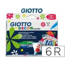 Marcadores para T-shirt Giotto Decor