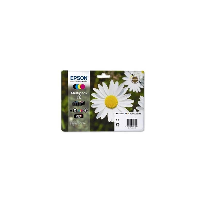 Tinteiros Epson nº 18 - pack com as 4 cores (C13T18064010)