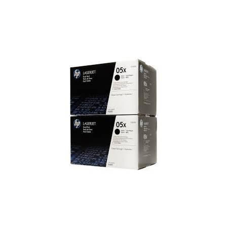 Toner HP 5X Preto - pack de 2 (CE505XD)