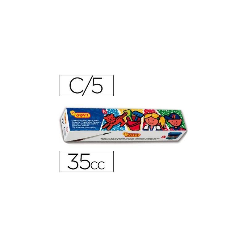 Conjuntos de 5 guaches sortidos Jovi com 40 ml.