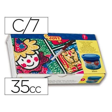 Guaches Jovi com 7 cores sortidas de 35 cc.