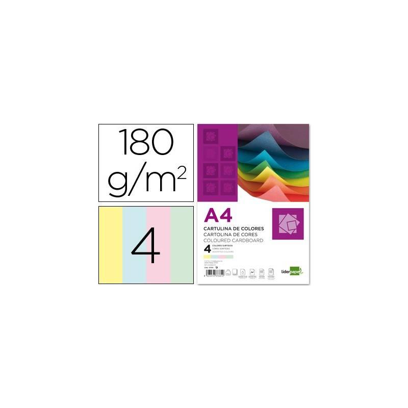 Cartolinas coloridas A4 com 4 cores pastel