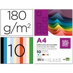 Cartolinas A4 com 10 cores sortidas