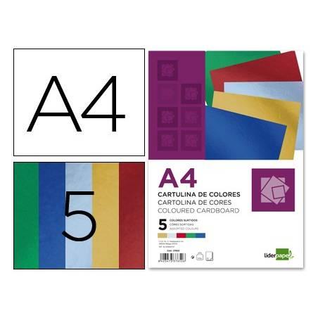Cartolinas A4 metalizadas sortidas