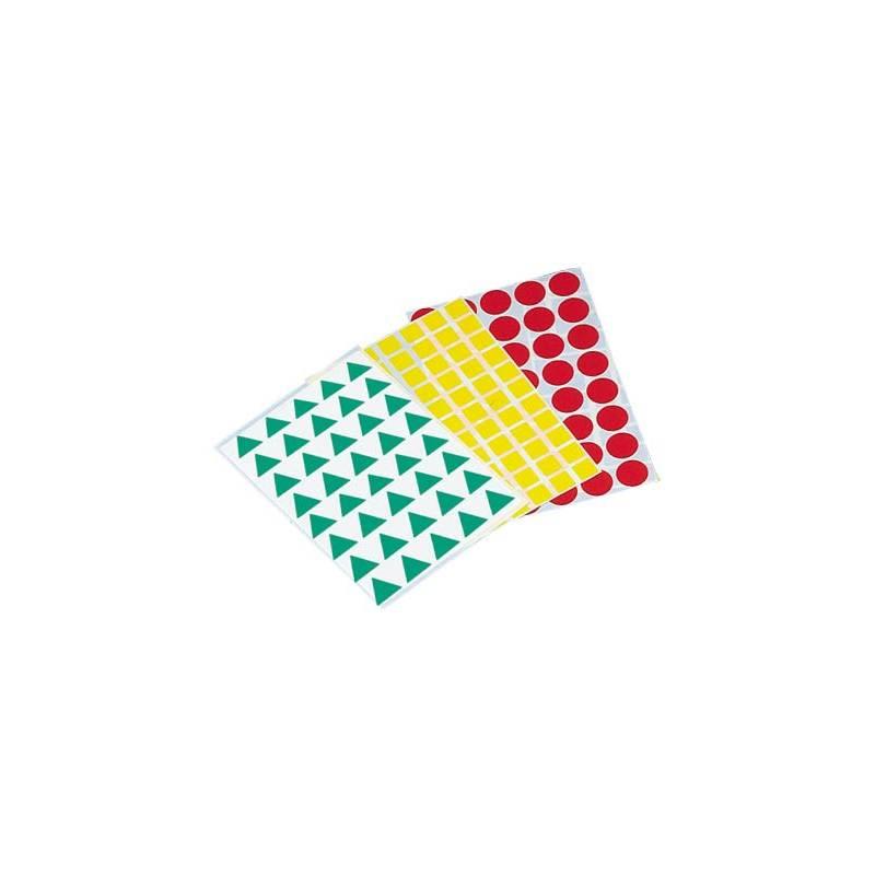 Etiquetas em forma de figuras geométricas sortidas
