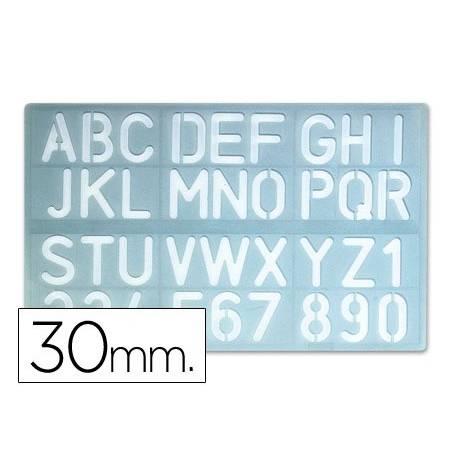Escantilhões de números e letras 30mm