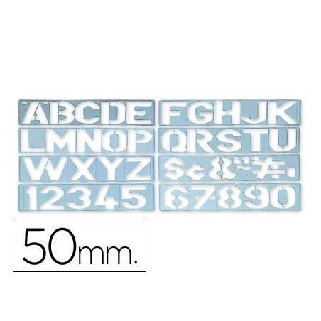 Escantilhões de letras e números 50mm