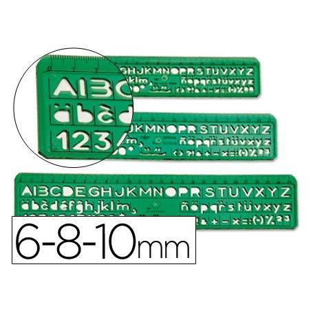 Conjuntos de 3 escantilhões de letras e números