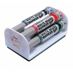 Apagadores Pentel com 4 marcadores