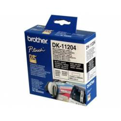 Etiquetas Brother DK-11204, 17x54mm (rolos com 400)