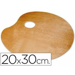 Paletas ovais de madeira para esquerdinos