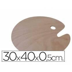 Paletas ovais de madeira para destros