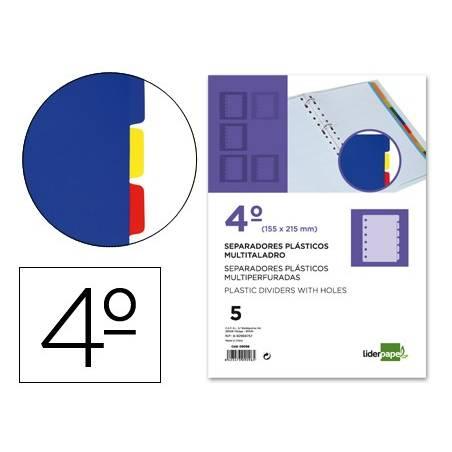 Separadores A5 em plástico com 5 posições