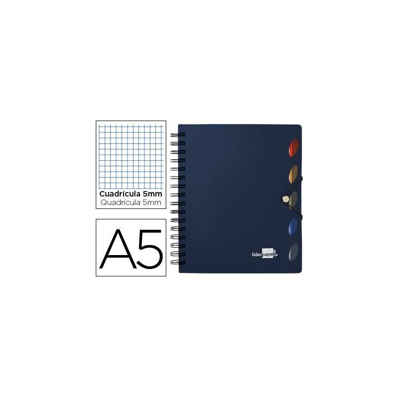 Cadernos A5 com espiral Executive azuis