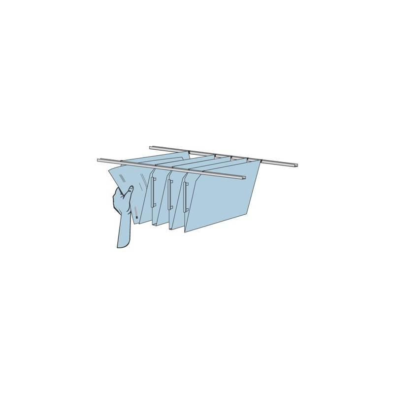 Guias para pastas de suspensão para armários Paperflow