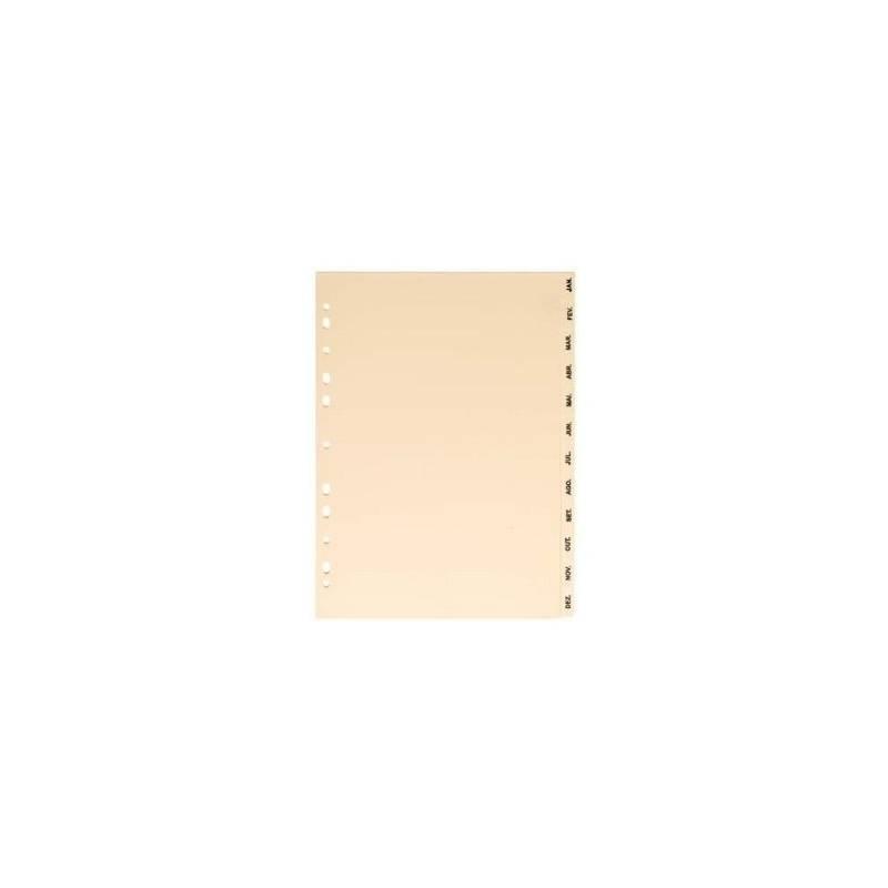 Separadores em cartolina mensais
