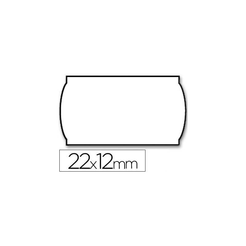 Rolos de etiquetas removíveis para preços 22x12 mm