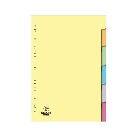 Separadores de cartolina com 6 posições