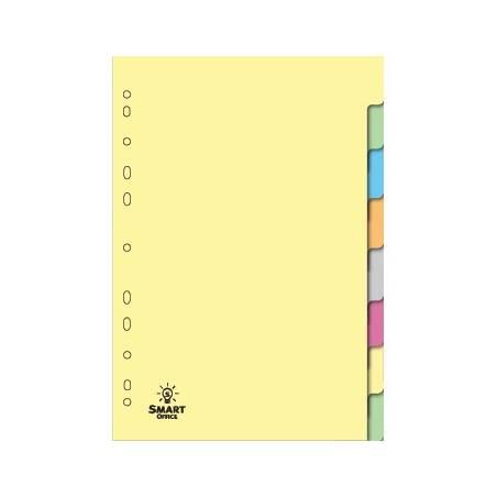Separadores de cartolina com 8 posições