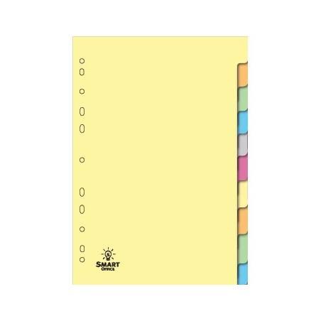 Separadores de cartolina com 10 posições