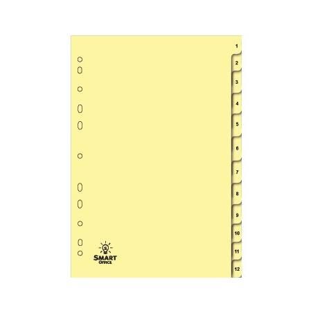 Separadores de cartolina numerados 1 a 12