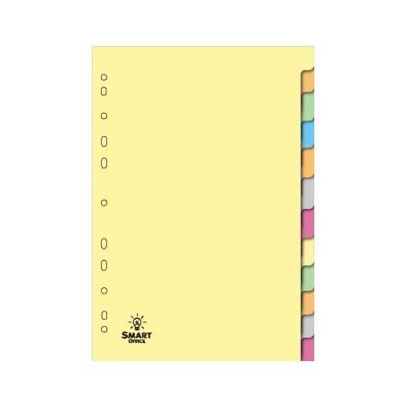 Separadores de cartolina com 12 posições