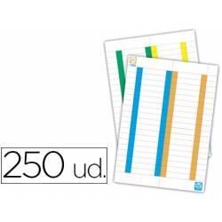Tiras de papel para visores de arquivo suspenso
