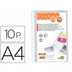 Recargas para porta cartões de visita A4 de anéis