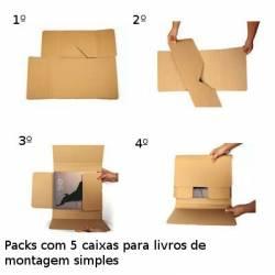 Caixas para enviar livros e catálogos