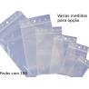 Bolsas plásticas com fecho zip packs com 100