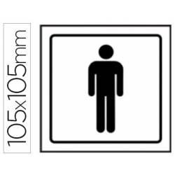 Pictogramas de sinalização de lavabos masculinos
