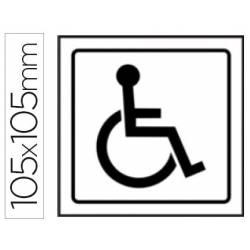 Sinalização de lavabos para deficientes