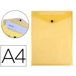 Envelopes saco A4 plásticos amarelos com mola