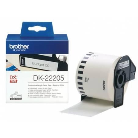 Rolos de papel autocolante Brother DK-22205