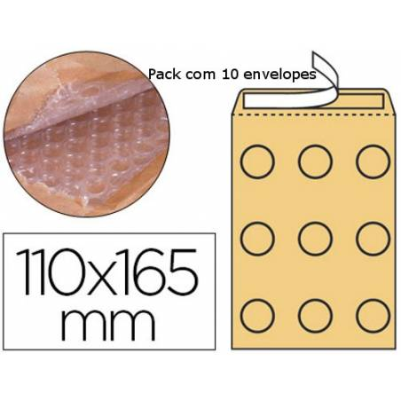 Envelopes almofadados kraft 105x165mm