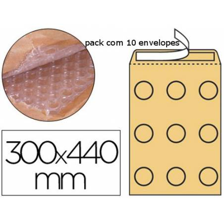 Envelopes almofadados 300x440mm (packs com 10)