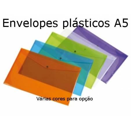 Envelopes plásticos A5 coloridos
