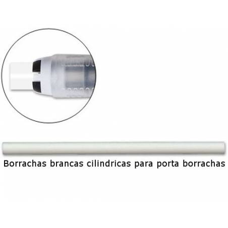 Borrachas cilindricas para recarga de porta borrachas