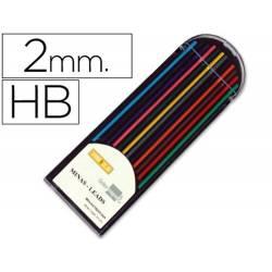 Minas coloridas para lapiseiras de 2mm
