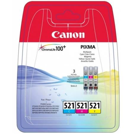 Tinteiros Canon CLI521CMY (pack com as 3 cores)