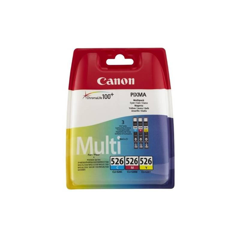 Canon CLI526CMY (pack com 3 cores)